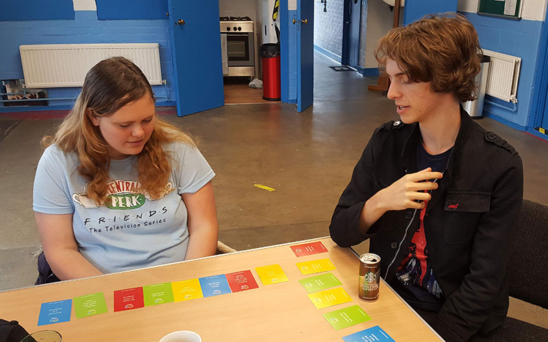 Colour Works Foundation Course Attendees playing colour card game