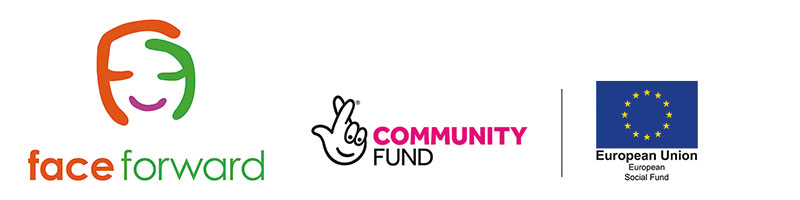 Face Forward logo with funders logos